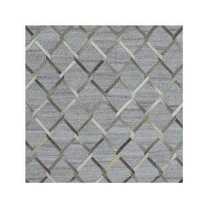 Elumx Grey handmade leather rugs