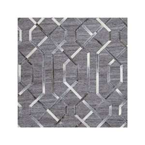 Floss Grey & Silver Leather Rugs