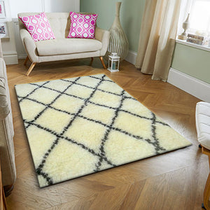 Off White Wool Rug