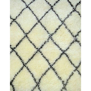 Osis Off White & Black  Wool Carpets