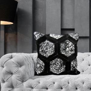Fuzio Hair On Leather Designer Pillow Covers