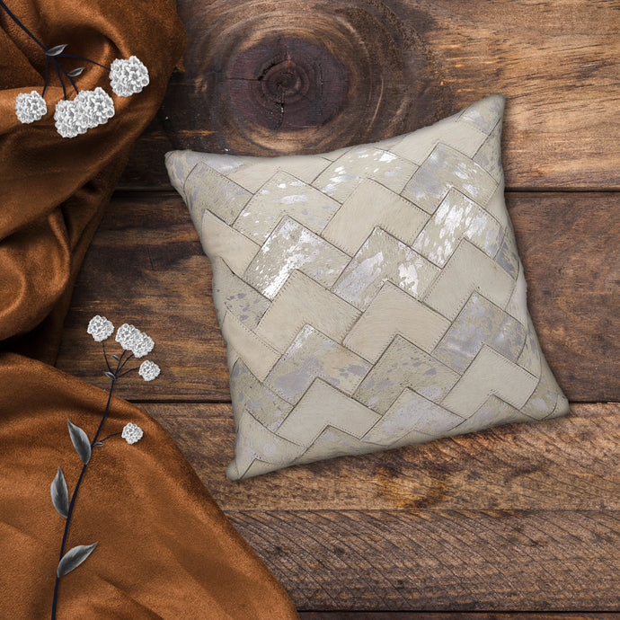 Grappo Hair On Leather Sofa Cushion Cover