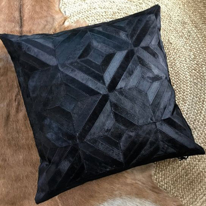 Nifty Hair On Leather Pillow Cover