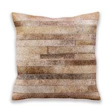 Beige Hair On Leather Cushion Covers