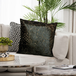 Chocolate Hair On Leather  Pillow Cover