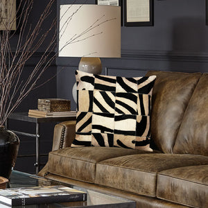 Hairon Leather Zebra Cushion Covers