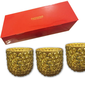 Liara Gold Glass Votive Set of 3