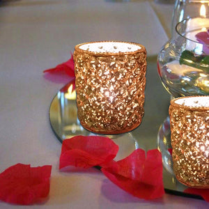 Amagi Gold Glass Votive Set of 3