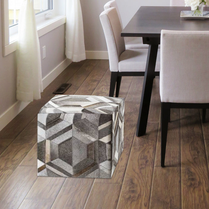 Justy Grey Designer Poufs