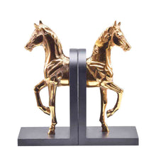 Gold Galloping Horse Bookend