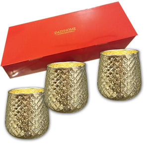 Aaravi Silver Glass Votive Set of 3