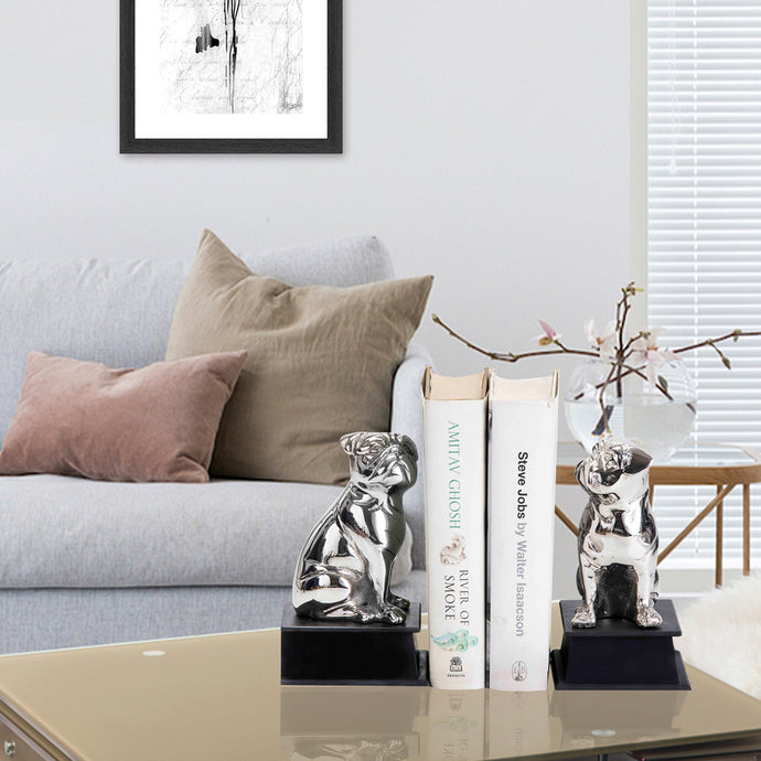 Silver Bookend