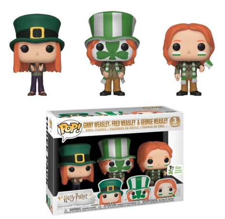 Pop HP: Quidditch World Cup 3-Pack: Ginny, Fred & George - 2019 Emerald City Comic Con/Barnes & Noble