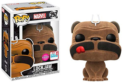 Pop! Marvel #257 Inhumans Flocked Lockjaw (2017 Fall Convention Exclusive)