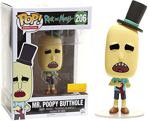 Pop! Animation Rick and Morty Mr. Poopy Butthole #206 (Gunshot Wound Exclusive)