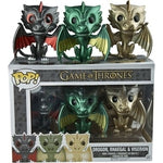 Pop! Game of Thrones -Drogon, Rhaegal & Viserion (Metallic)
