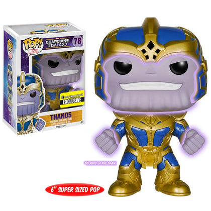 pop! Marvel :Guardians of the Galaxy Thanos Glow-in-the-Dark 6-Inch Pop! Vinyl Bobble Head Figure - Entertainment Earth Exclusive
