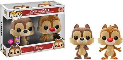 POP Disney: Chip & Dale Flocked Vinyl Figures - 2 Pack SDCC 2017 Exclusive