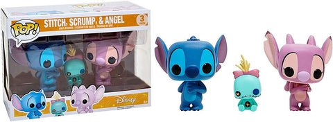 POP Disney:Lilo & Stitch 3 Pack Stitch,Scrump & Angel Hot Topic Exclusive