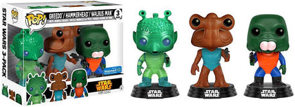 POP! Star Wars: Greedo, Hammerhead, Walrus Man Cantina Exclusive 3-Pack