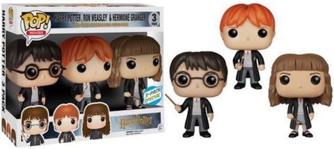 Pop HP: Harry, Ron And Hermione 3pk