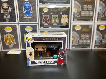 Pop! Game of Thrones -Daenerys (Mhysa) & Drogon (Metallic)