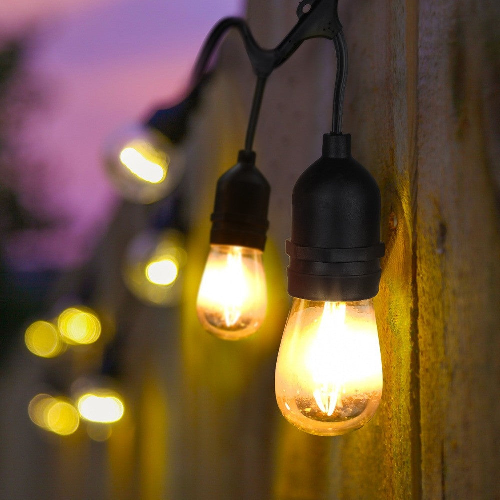 Commercial Grade Outdoor Patio String Lights   48 Ft.