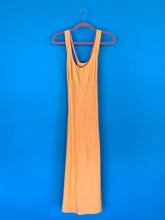 Dana- 1990s Linen Orange Maxi Vintage Dress