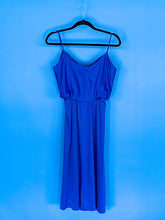 Blue spaghetti strap dress
