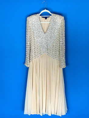 Sequin Cream Dress