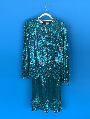 Lawrence Kazar 1990s sequin set