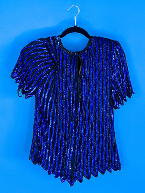 Stenay Blue Sequin Blouse