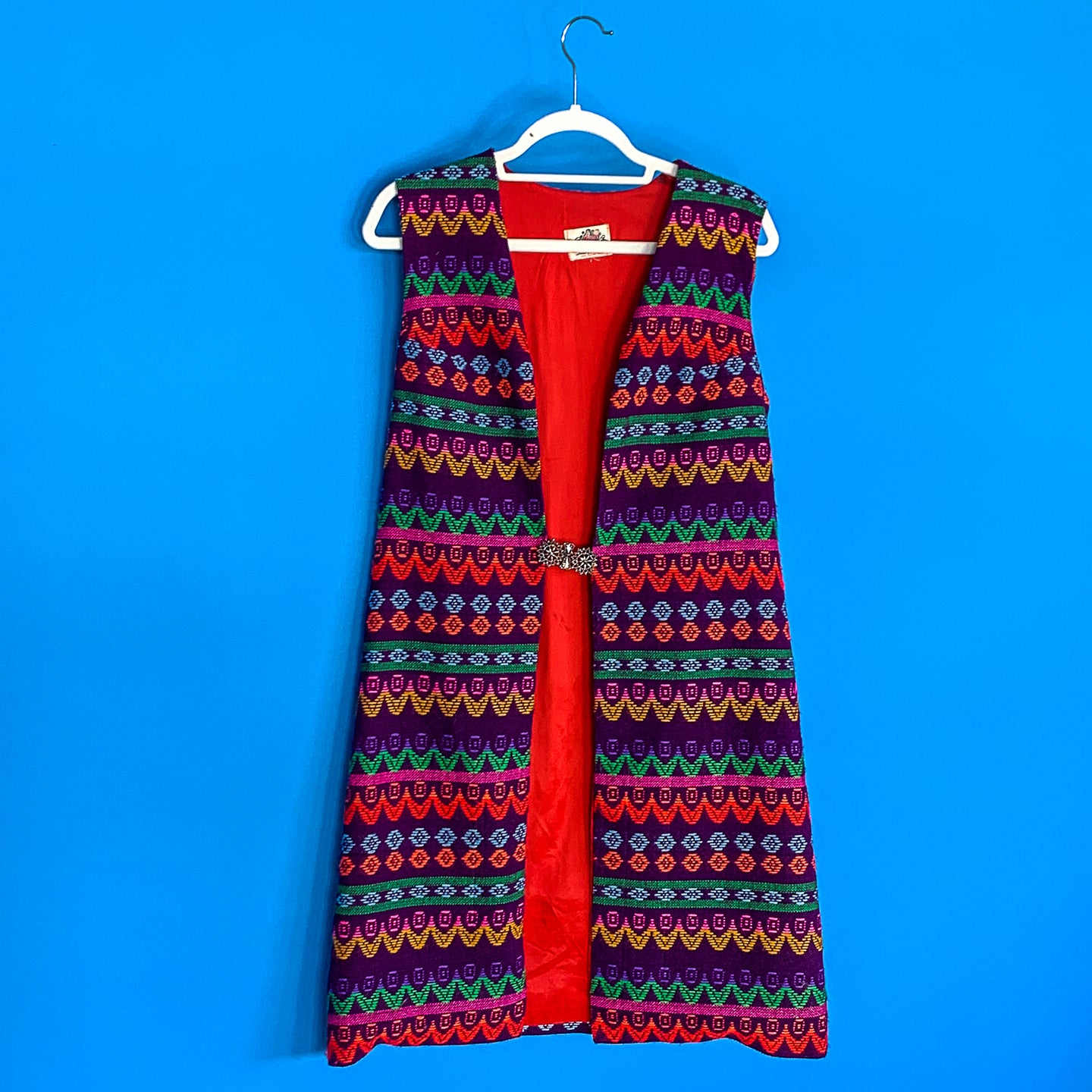 Lanz Woven Multicolored long Vest