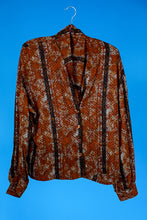 1990s Brown Blouse