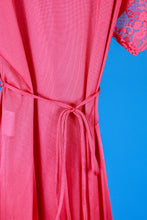 Cold Shoulder- 1970s pink sexy vintage nightgown