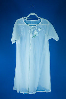 Jean- 1960s Boudoir Burlesque Sheer Robe