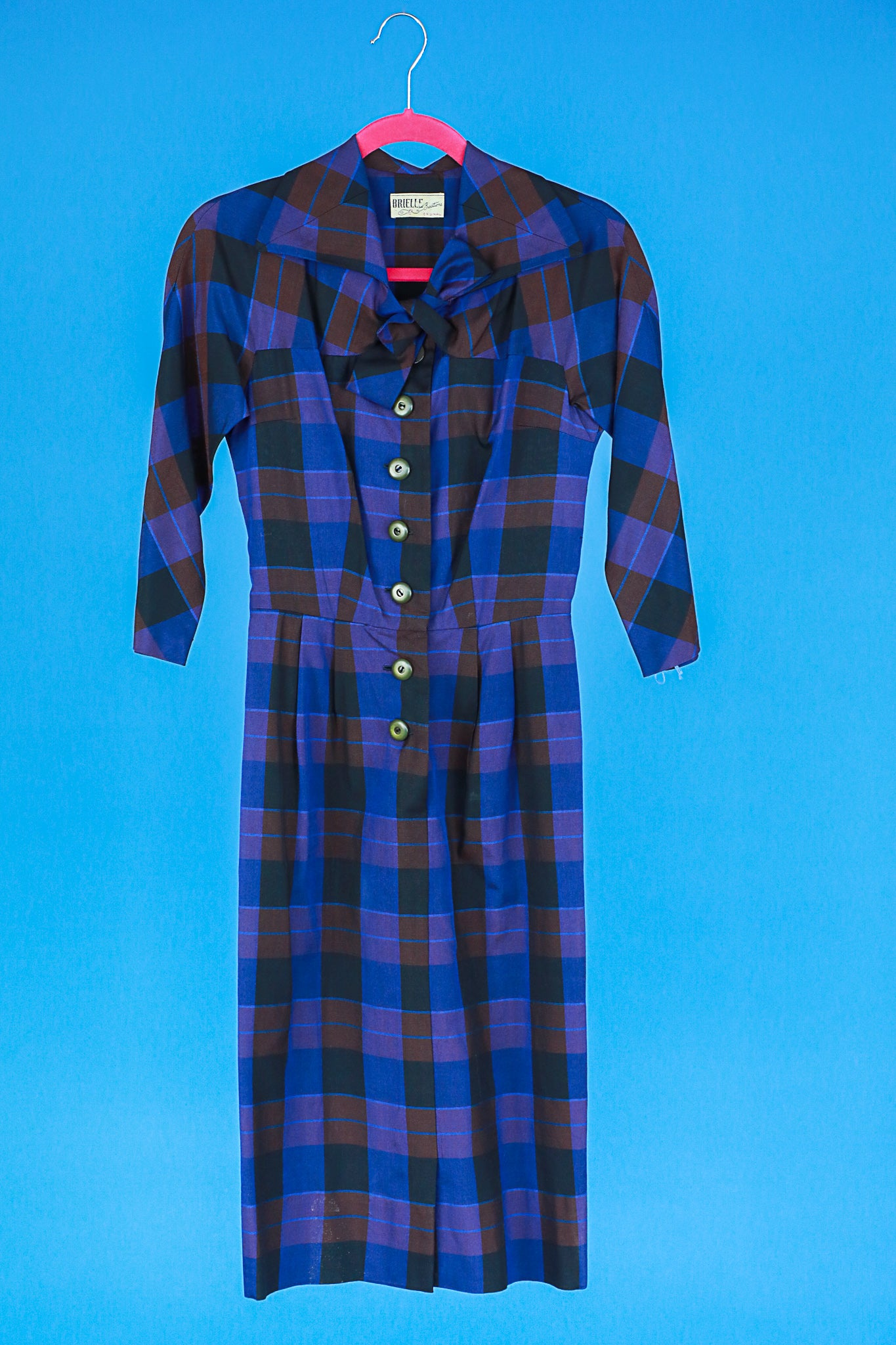 Plaid 1950s dress by Brielle