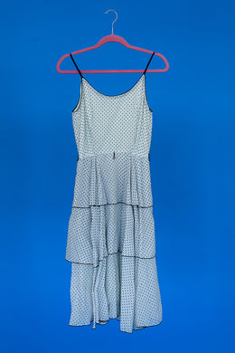 Dotty- 1950s tiered dress