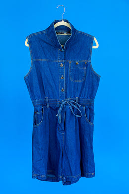 1990s Denim Romper by JIT sport