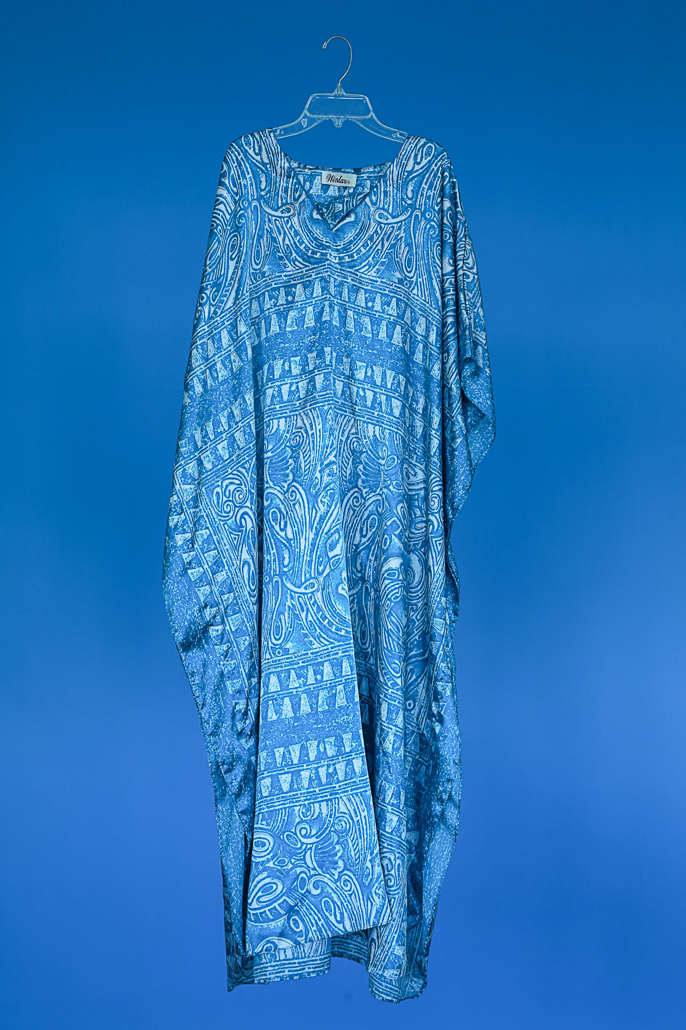 1980s Turquoise caftan