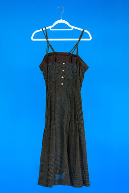 Brown 1950s Cotton Dress