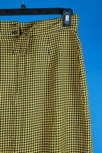 1990s Checkered pencil skirt