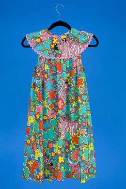 1960s Psychedelic print apron