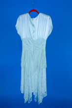 1980s White Party Dress