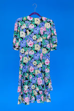 1980s Dropwaist floral dress