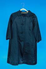 Black Satin Opera Coat- S