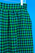 Green houndstooth skirt by Gregge Sport