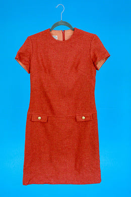 Villager Wool 1960s Mod Dress