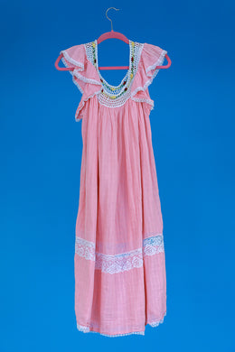 Pink Crochet Nightgown