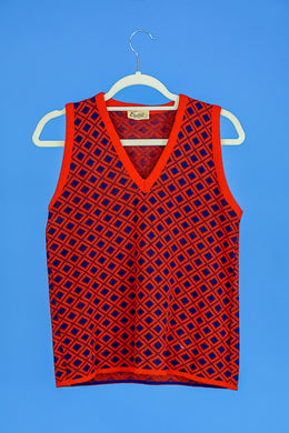 Beeline Orange and Blue wool Vest